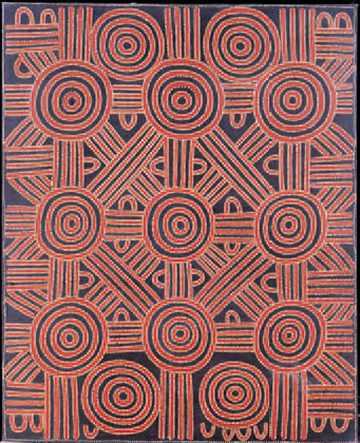 Dave Ross Pwerle, Chemins du rêve (acrylique sur toile, 1998)