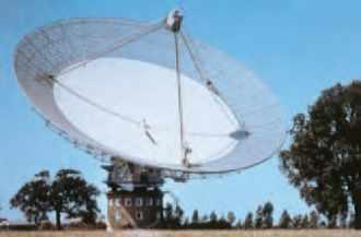 Le radiotélescope de Parkes en Nouvelle-Galles-du-Sud, propriété du CSIRO. Ce radiotélescope a été utilisé au cours de la mission Giotto de l'Agence spatiale européenne.