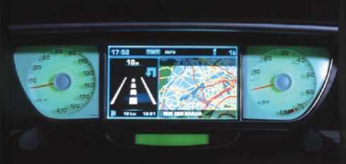 Tableau de bord avec GPS (Peugeot)