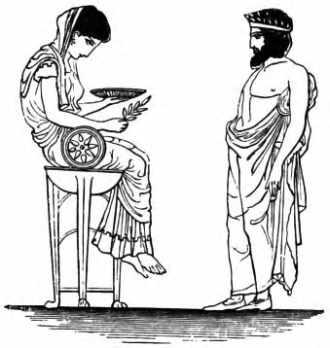 La Pythie de Delphes.