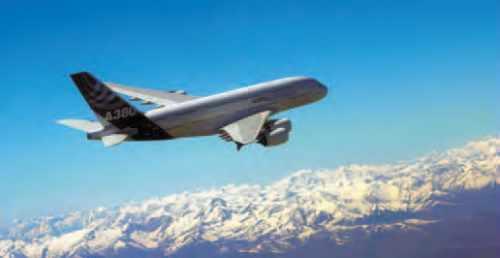 A380 au-dessus des Pyrénées.