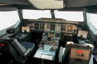 Poste de pilotage d'Airbus A380