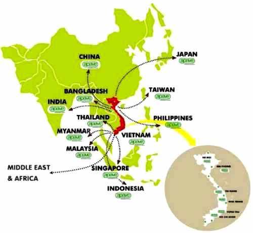 Implantation APAVE en Asie