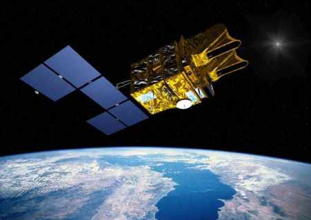 SPOT 5, un satellite d'observation optique de la Terre, construit par Astrium, EADS.
