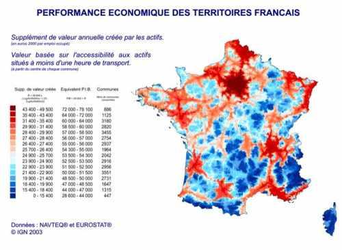 Performance économique des territoires français
