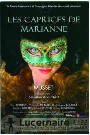 Affiche de théatre : Les caprices de Marianne
