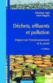 Couverture du livre : Déchets, effluents et pollution