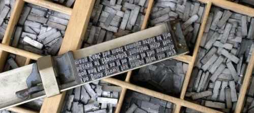 Composteur et casse typographiques
