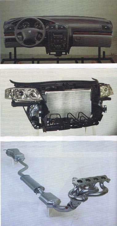 Divers modules de Faurecia pour l'automobile