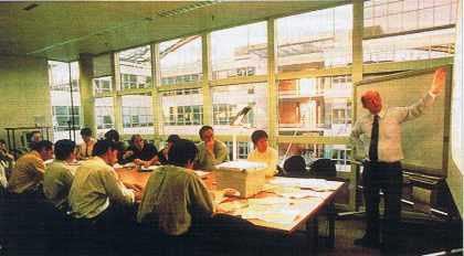 Une salle de réunion du Technocentre Renault