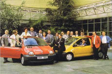 L'équipe qui a développé la Renault Twingo
