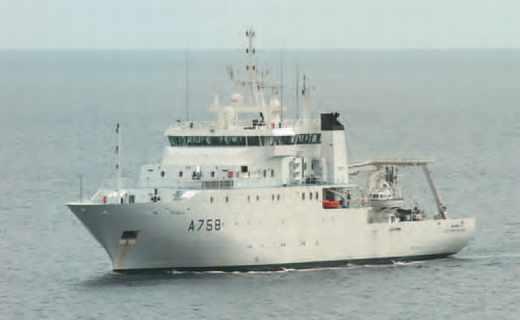 Navire hydrographe d'Entrecasteaux.