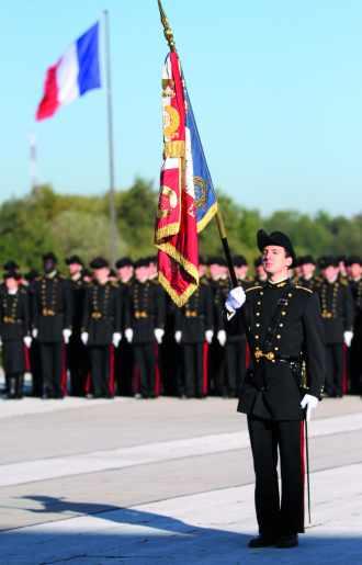 Présentation au drapeau de la promotion 2010