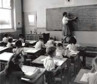 Une classe d'après Doisneau