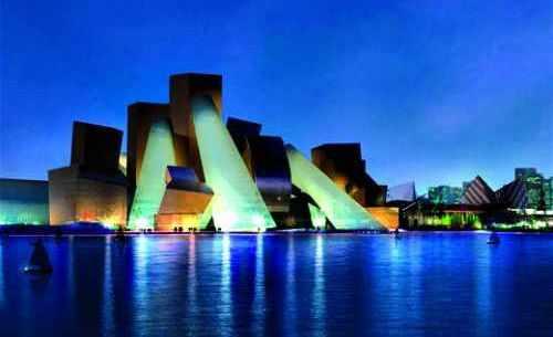 Le futur musée Guggenheim d'Abou Dhabi.