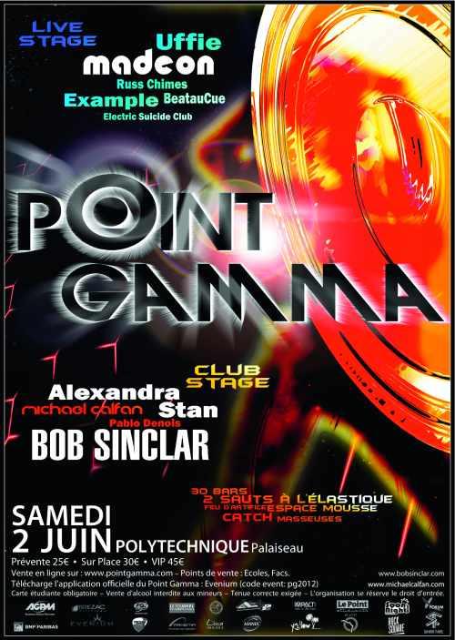Affiche du Point Gamma 2012