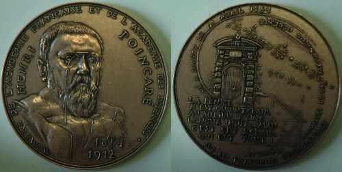 Médaille de Corbin (1971) en l'honneur d'Henri Poincaré
