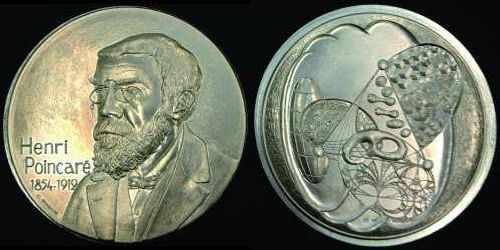 Médaille par Gondard (2012) en hommage à Henri Poincaré