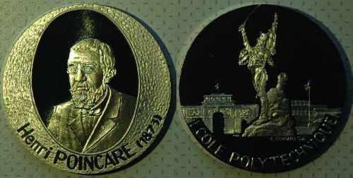 Médaille par Gondard (1993) en hommage à Henri Poincaré