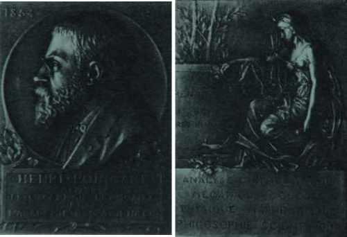 Plaquette réalisée par Prud'homme (1934) en l'honneur d'Henri Poincaré