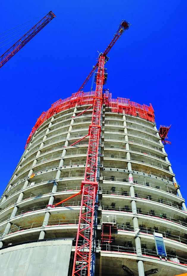 La tour Oxygène en construction à Lyon