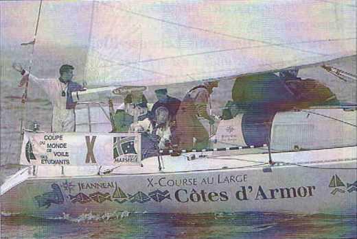 Course de l'Europe 1996, le bateau de l'Ecole polytechnique