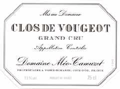 Etiquette de Clos de Vougeot