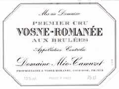 Etiquette de Vosne-Romanée