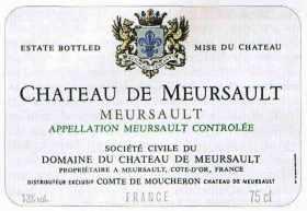 """Etiquette """"Chateau de MEURSAULT"""""""