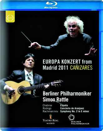 Coffret du Blue-ray de l'orchestre philharmonique de Berlin,avec Sir Simon Rattle