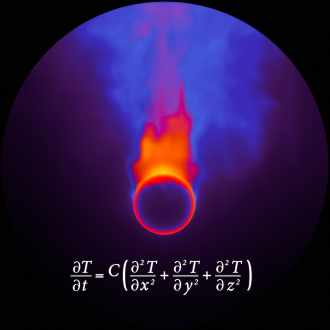 Diffusion de la chaleur (équation de Fourier), image du film de Beatriz Milhazes et BUF, Les Paradis mathématiques, 2011.