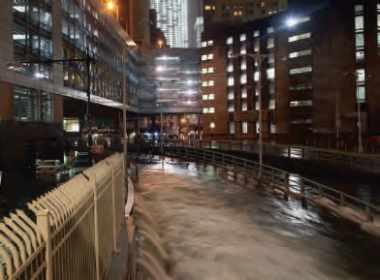 L'effet de l'ouragan Sandy aux États-Unis.