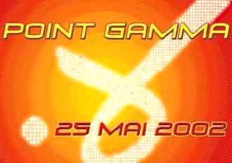 Affiche du point GAMMA 2002 (Ecole polytechnique)