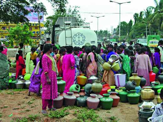 Distribution d'eau en Inde