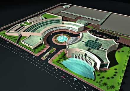 Maquette du centre de formation aux métiers de l'eau en Arabie Saoudite.