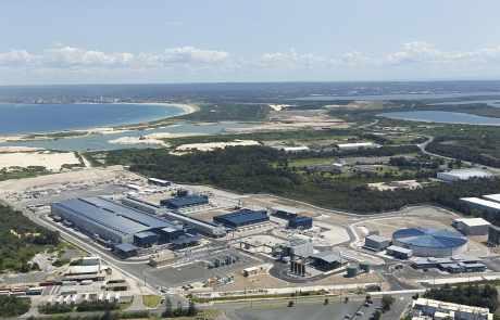 Usine de dessalement d'eau de mer de Sydney, Australie.
