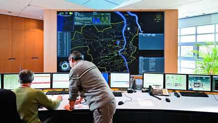 Système Influx (Gestion des eaux pluviales). Salle de contrôle