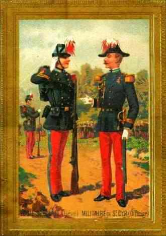 à la fin du 19ème siècle, les cadres de l'Ecole Spéciale Militaire portaient le bicorne