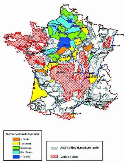 Carte des ressources en eau de France