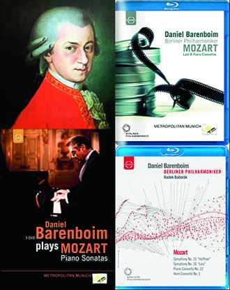 Coffret des DVD de Barenboïm, Concertos et Sonates de Mozart