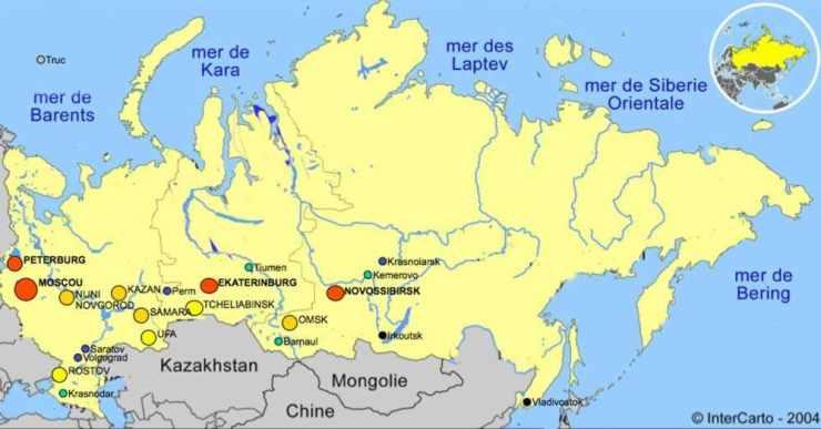 Carte de la Sibérie