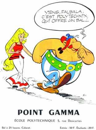 Affiche 1967 du Point GAMMA de l'Ecole polytechnique