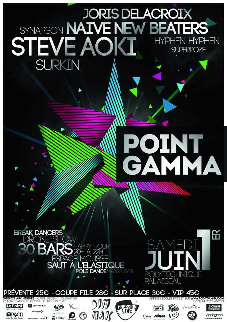 Affiche 2013 du Point GAMMA de l'Ecole polytechnique