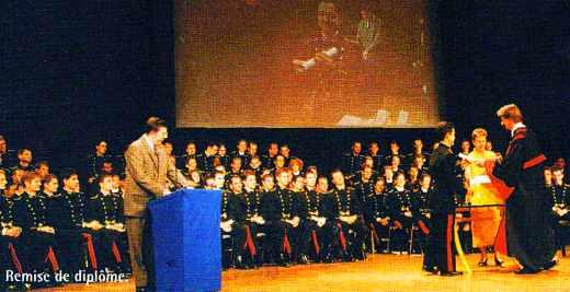 Remise de diplôme aux élèves de l'Ecole polytechnique, promotion 1995