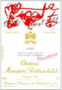 Etiquette 1995 de Mouton Rothschild