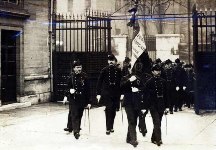 La garde au drapeau 1919 de l'Ecole polytechnique