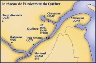 Le réseau de l'Université du Québec