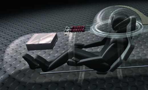 Sous-marin à propulsion humaine, pédalage