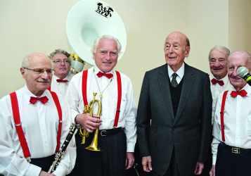 VGE avec les Dixieland Seniors, anciens de l'Ecole polytechnique