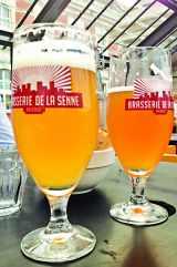 Verres de bierre chez Pin Pon à Bruxelles